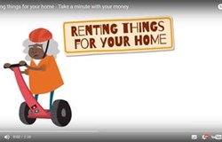 MoneySmart - Take a minute with your money - Renting things for your home.
